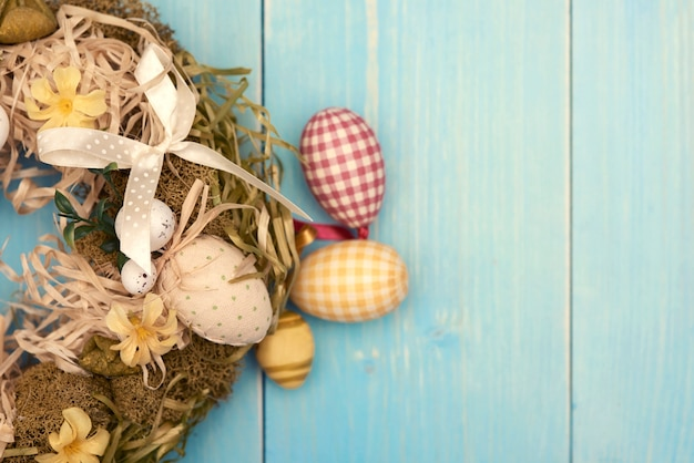 Easter wreath made of natural materials