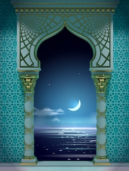 Eastern ancient arab arch night eastern ancient arab arch night