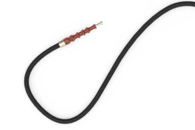 Eastern hookah hose on a white background