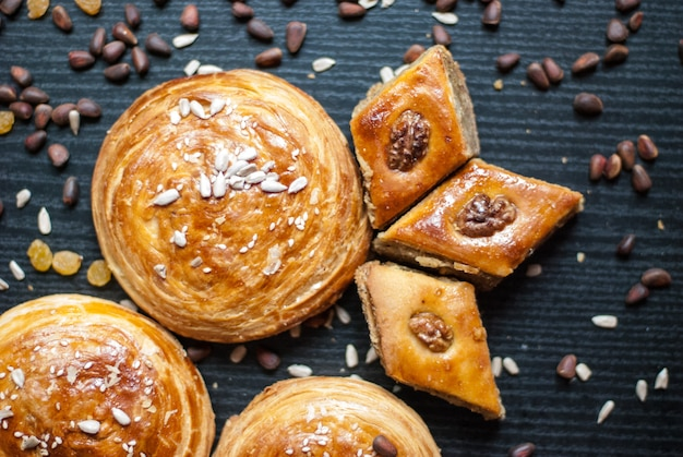 Eastern sweets. pastry and different nuts