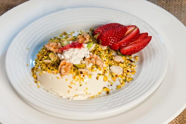 Eastern sweets on plate.arabic food.