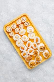 Восточные сладости. рахат-лукум, лукум с орехами