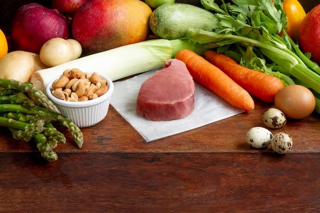 손쉬운 유연식 다이어트 음식 배열