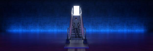 ドアの3dレンダリングでコンセプトエスカレーターを成功させる簡単な方法