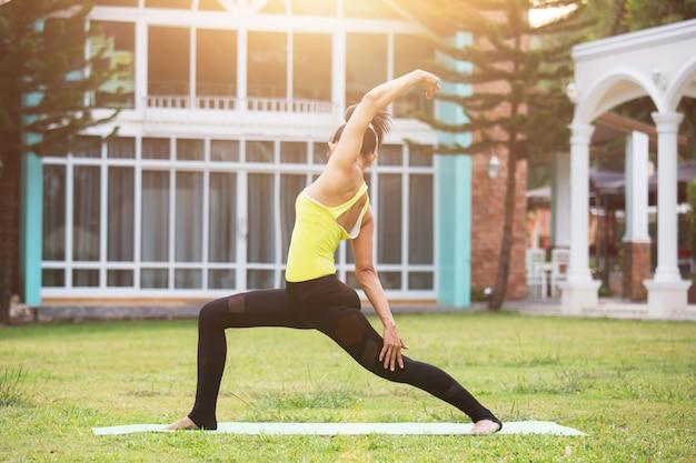 Eautiful young woman doing yoga