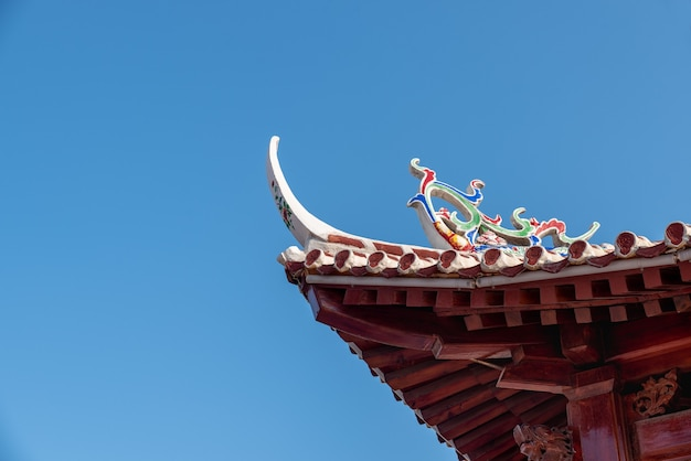 Eaves and corners of traditional chinese buddhist architecture