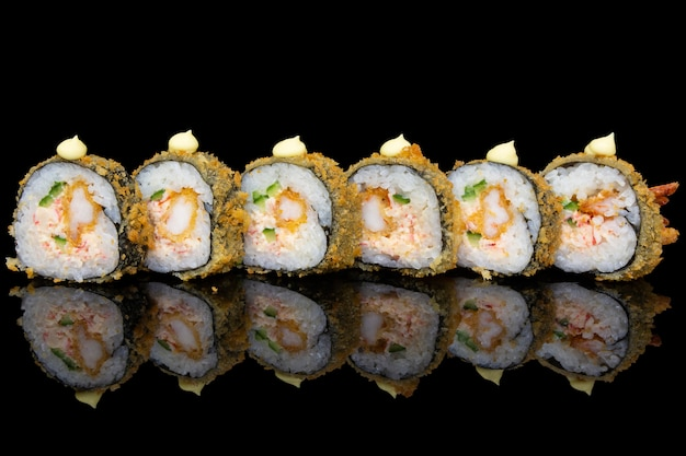 Ebi fry with crispy tempura futomaki sushi