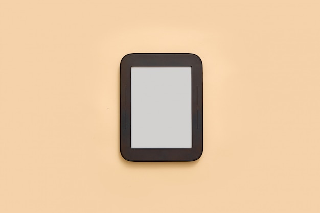 Ebook mockup with empty screen