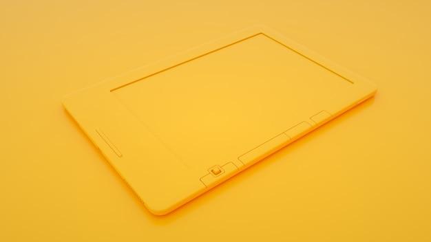 Электронная книга на желтом фоне