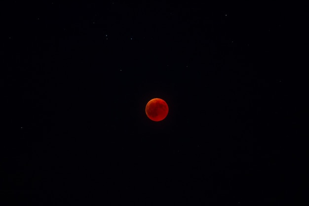 Eclipse of red moon