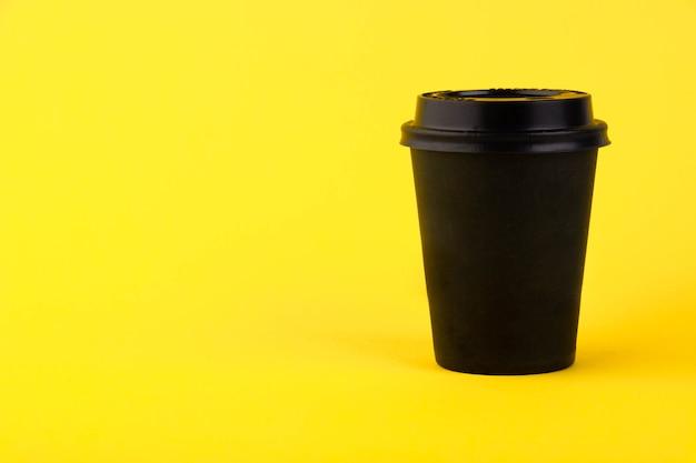 エコブラック紙コップ、黄色のコーヒー紙コップ