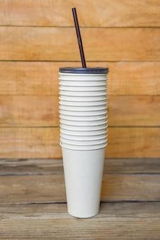 Эко-кофейная чашка на вынос, одноразовая экологически чистая упаковка для пищевых продуктов