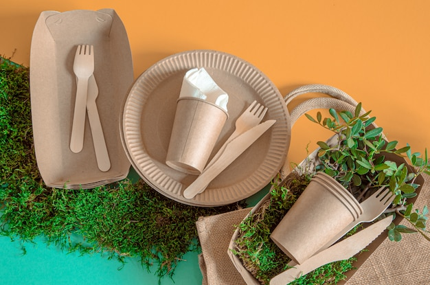 Eco craft paper tableware