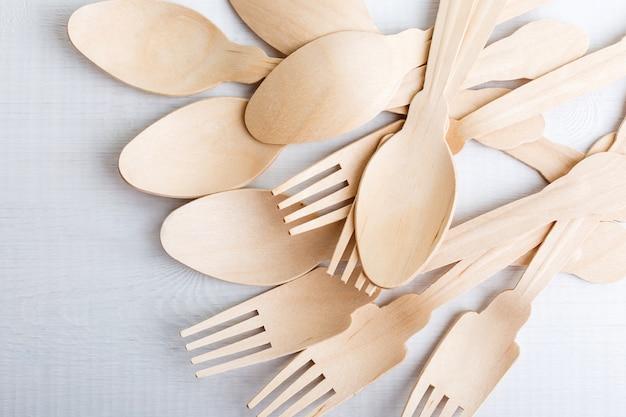 Эко посуда, вилки и ложки из дерева