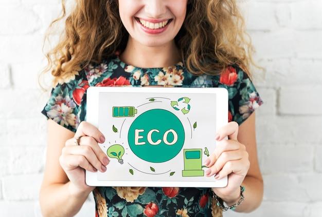 Эко энергосбережение концепция экологии сохранения окружающей среды