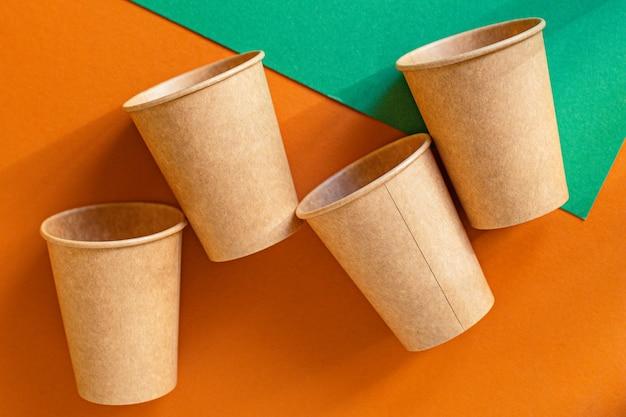 環境にやさしい生物有機澱粉食器廃棄物ゼロの使い捨てファーストフード容器