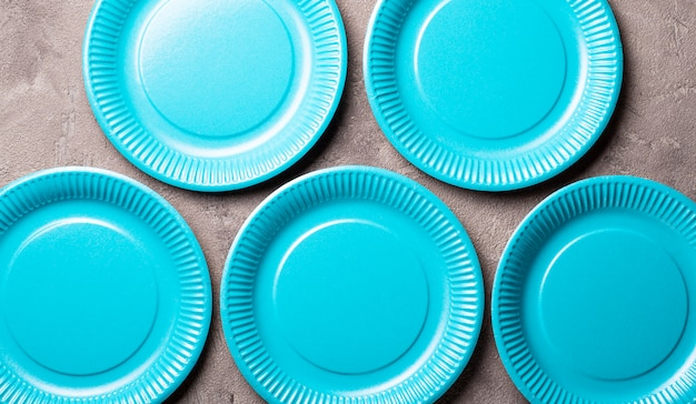 Eco friendly blue paper plate
