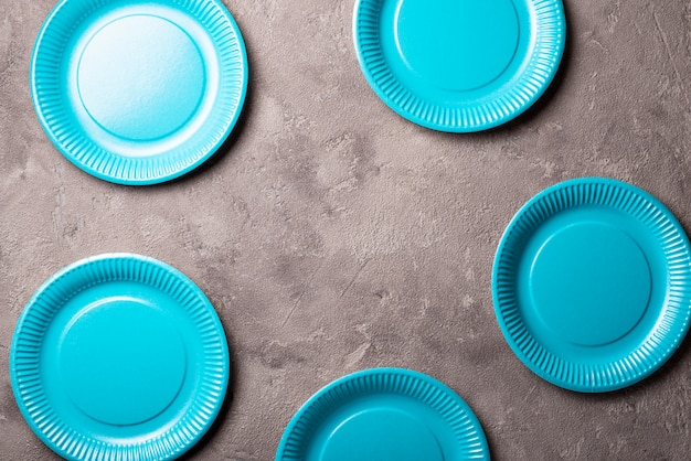 Eco friendly blue paper plate
