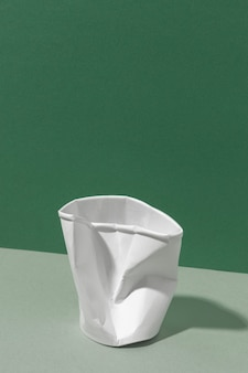 Eco-friendly crushed cup front view
