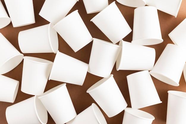 Экологичные чашки вид сверху