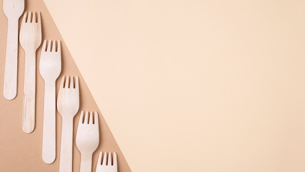 Eco friendly disposable tableware forks