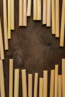Экологичная бамбуковая трубчатая трубочка