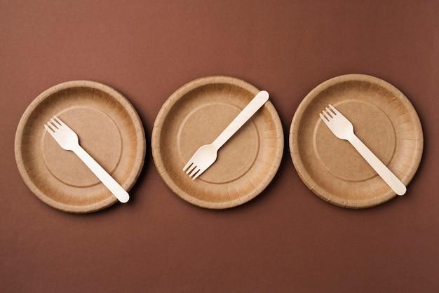 Eco friendly utensils arrangement