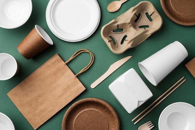 Ассортимент экологически чистой посуды