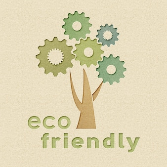 Ecofriendly industry and environmental conservation concept