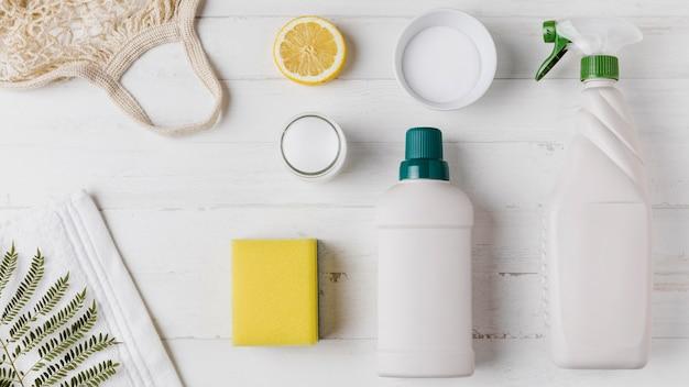 Concetto di prodotti ecologici con spazio di copia