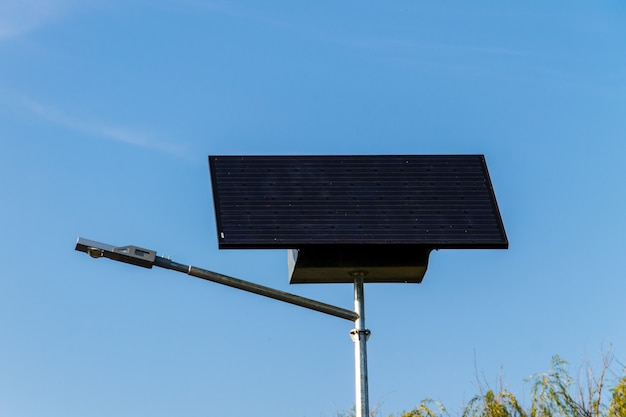 Ecological electrical energy from the solar panel used for street illumination