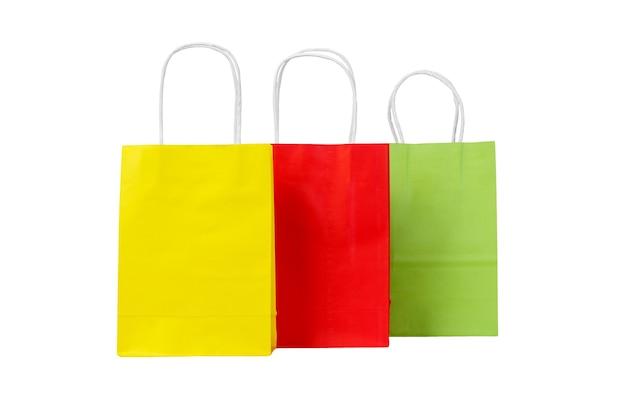 생태 재활용 색종이 쇼핑백의 집합입니다.