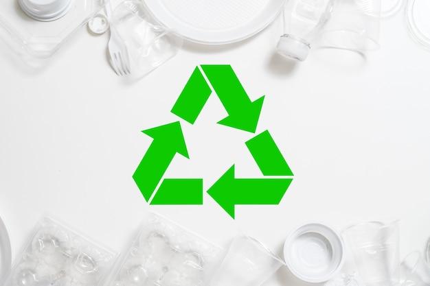 생태 개념. 폐기물 관리 및 재활용. 플라스틱 폐기. 환경 보호