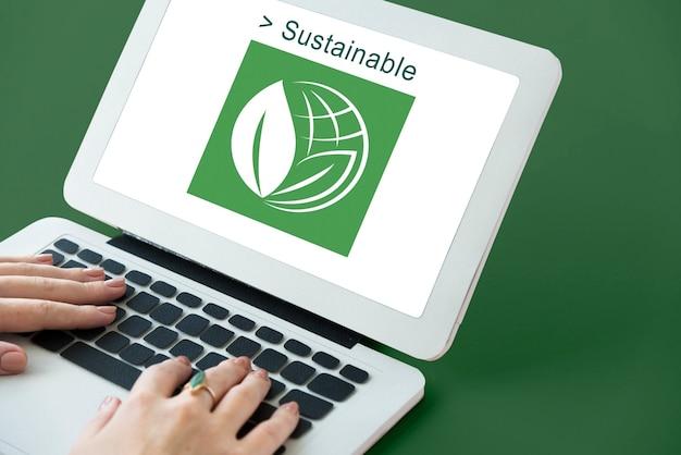 エコロジー環境は地球の概念を救う