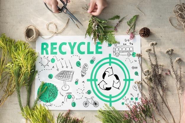 생태 친화적인 에너지 환경 지속 가능한 개념