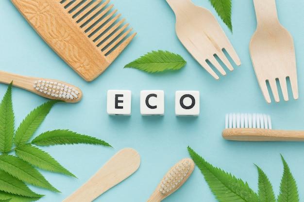 Spazzolino e pettine per ecologia