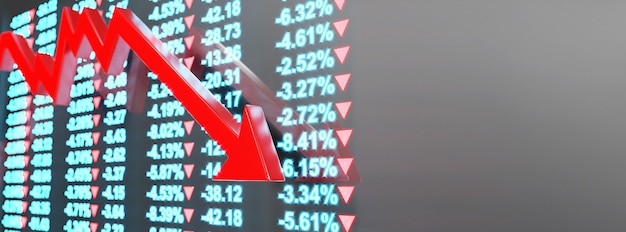 Концепция экономического кризиса. распространение в мире, экономика падает. 3d иллюстрация