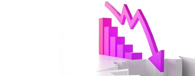 경제적 위기 개념입니다. 세계에 퍼지고 경제가 침체되어 있습니다. 3d 그림