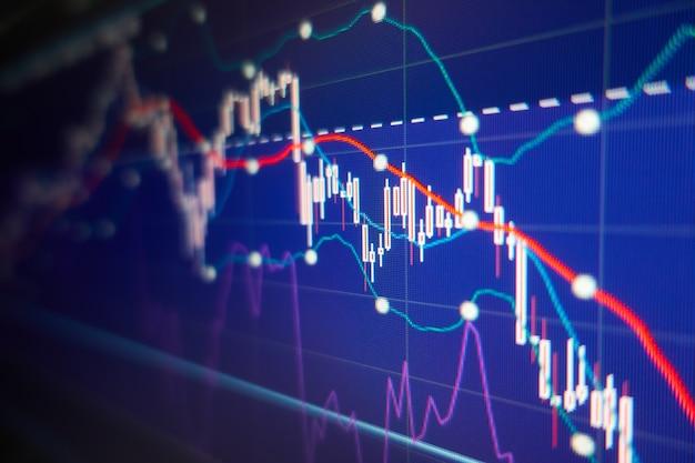 Экономический кризис - графики и диаграммы фондового рынка - финансовый и деловой фон