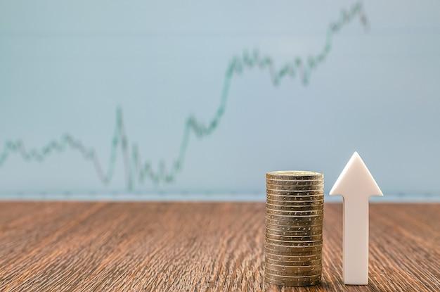 Экономический рост, рост стоимости активов на фондовом рынке, цена акций, копировальное пространство