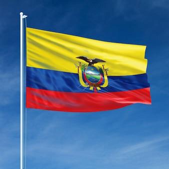 Ecuador flag flying
