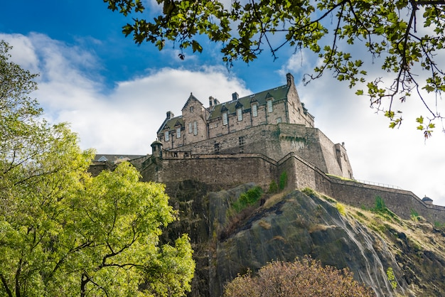 イギリス、スコットランドのエディンバラ城