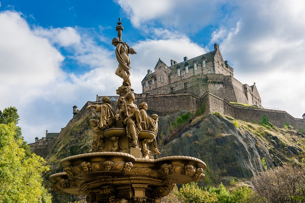 Edinburgh castle in scotland, united kingdom
