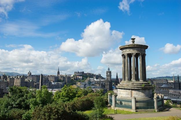 Edinburgh city from calton hill, scotland, uk,