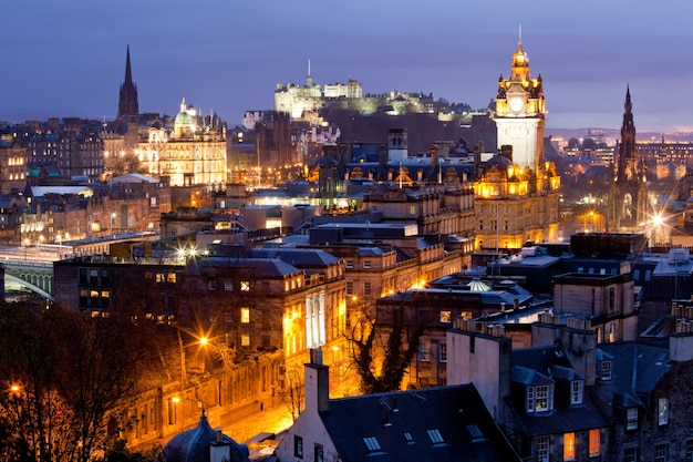 Edinburgh skylines building and castle scotland