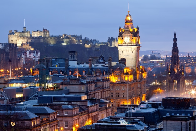 Edinburgh skylines dusk