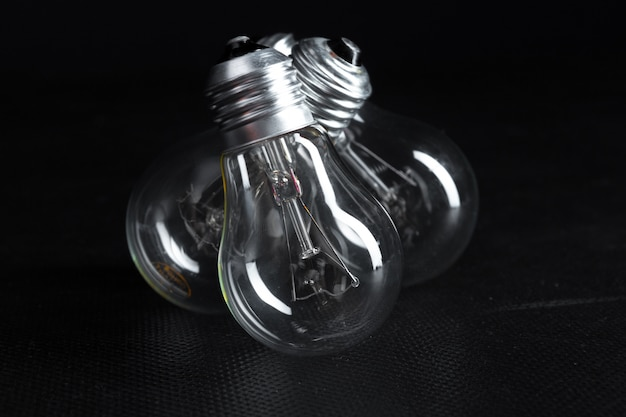 Edison bulb close up.