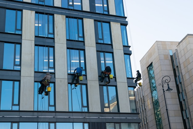 Editorial image of window cleaners