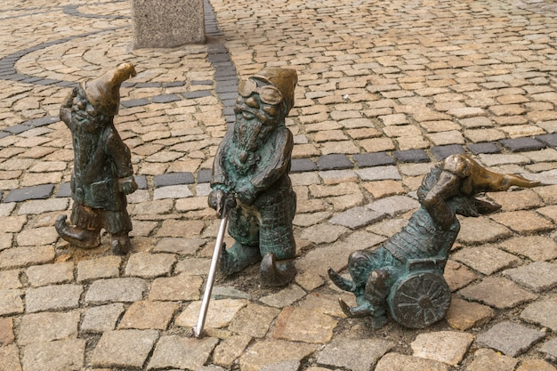 Editorial image of wroclaw gnome in old city center
