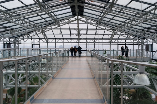 Editorial image of zielona gora greenhouse with tropical plants